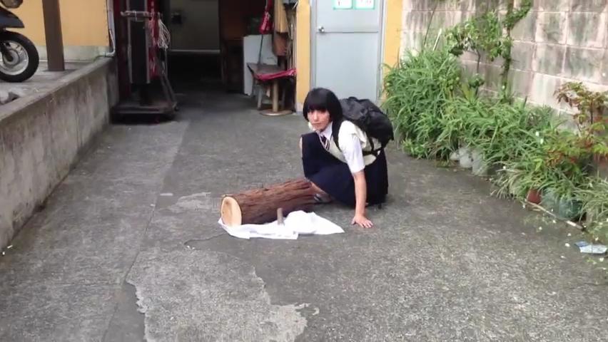 忍者女子高生 _ 制服で大回転 _ japanese school girl chase  #ninja.mp4_000106033