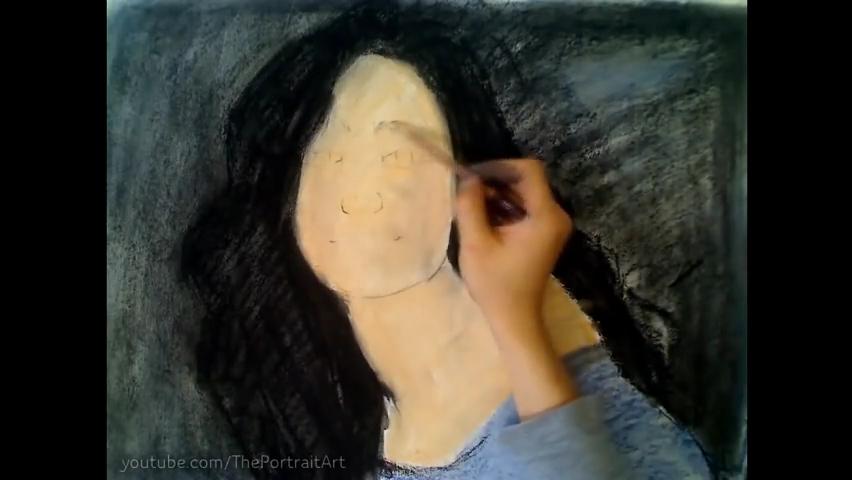 Drawing Emmy Rossum - Color Pastel Portrait Time-lapse.mp4_000032699