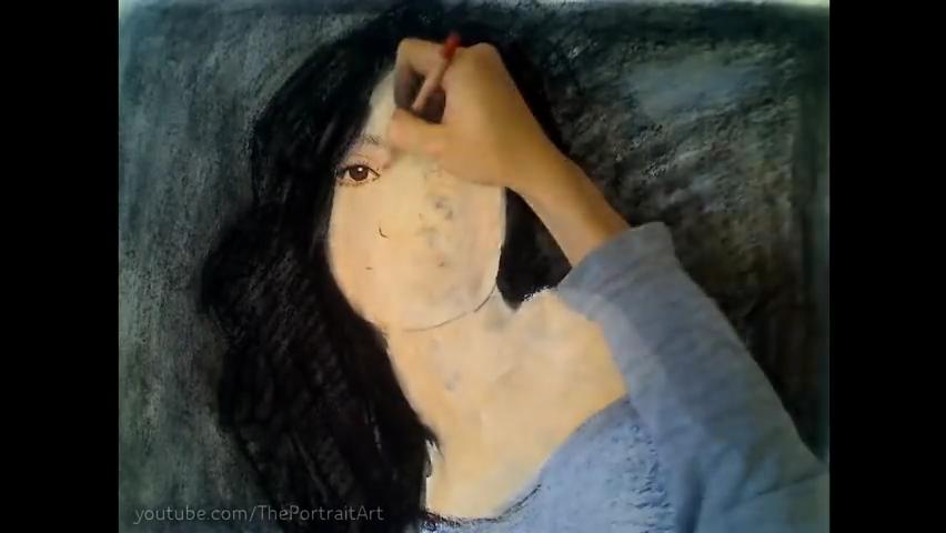 Drawing Emmy Rossum - Color Pastel Portrait Time-lapse.mp4_000041941