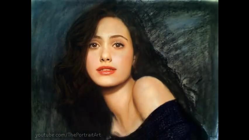 Drawing Emmy Rossum - Color Pastel Portrait Time-lapse.mp4_000133900