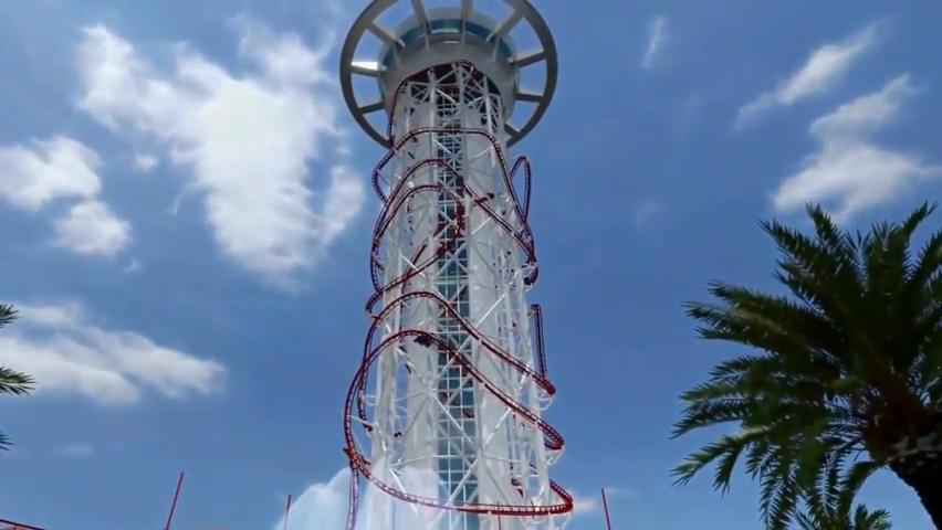 Skyscraper World's Tallest Roller Coaster POV - Skyplex Orlando.mp4_000024833