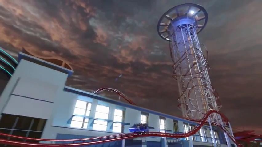 Skyscraper World's Tallest Roller Coaster POV - Skyplex Orlando.mp4_000193933